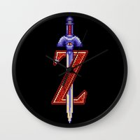 sword Wall Clocks featuring Skyward Sword by Naavech Verro