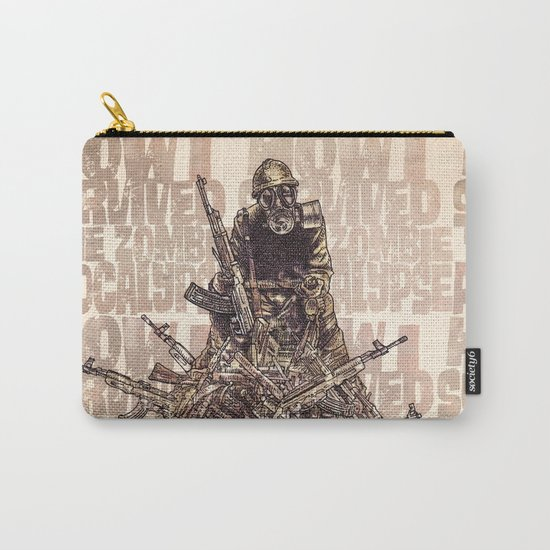 How I Survived The Zombie Apocalypse (colour option) Carry-All Pouch