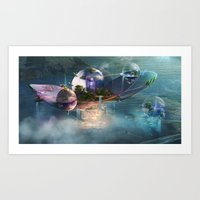 Floating residences Art Print