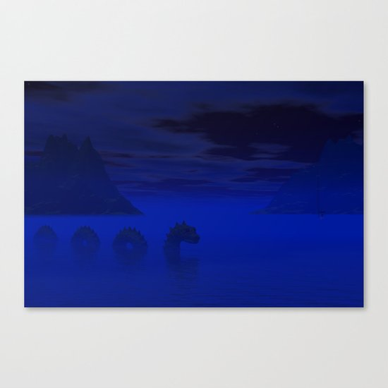Midnight on the Loch Canvas Print