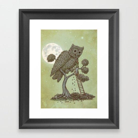 The Night Gardener (Colour Option) Framed Art Print
