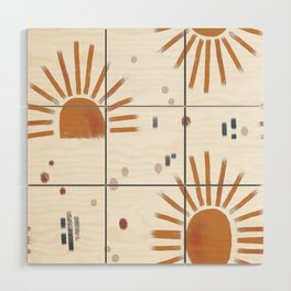 sunbursts Wood Wall Art