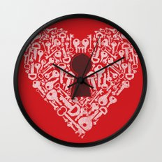The Key To My Heart Wall Clock