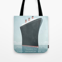 Vintage Travel Poster - Cruise Ship Tote Bag