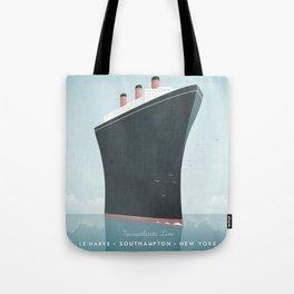 Vintage Travel Poster - Cruise Ship Tote Bag