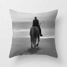 Into The Fog B&W Throw Pillow