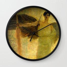 Handsome Golden Angel Wall Clock