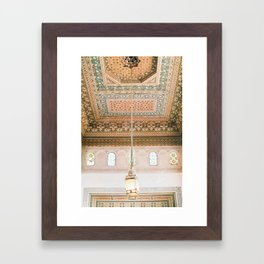 Marrakech ceiling Framed Art Print