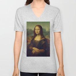 Mona Lisa - Leonardo da Vinci Unisex V-Neck