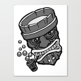 Dots n tikis n pipe Canvas Print