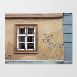 F THE SYSTEM Canvas Print