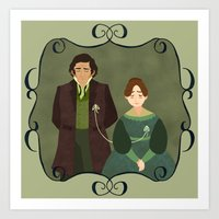 jane eyre Art Prints featuring String (Jane Eyre) by Rebecca Brown