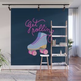 Get Rolling (Navy Background) Wall Mural