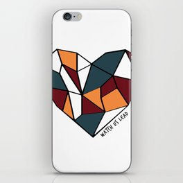 Watch Us Lead (Mosaic Heart) iPhone Skin