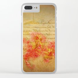 Flirtation Clear iPhone Case