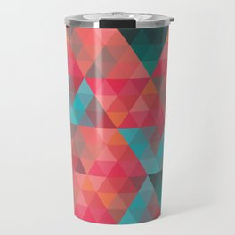Abstract Geometric Pattern colorful triangles abstract art Travel Mug