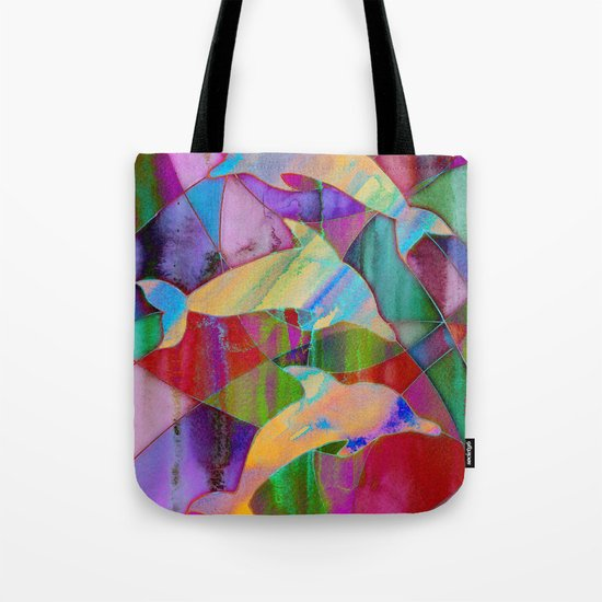 Caught in rainbow nets Tote Bag
