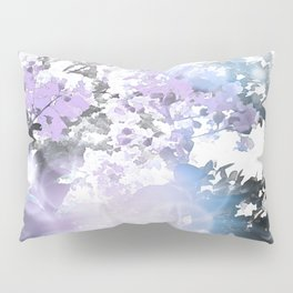 Watercolor Floral Lavender Teal Gray Pillow Sham