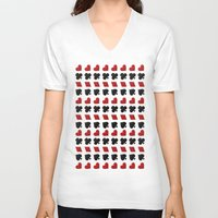 suits V-neck T-shirts featuring Card Suits by •ntpl•