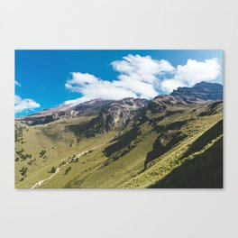 View Hiking up Iztaccihutal Volcano, Mexico City Canvas Print