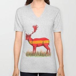 SPANISH Fallow Deer Unisex V-Neck