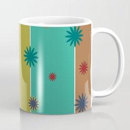 Retro Stripes + Floral Coffee Mug