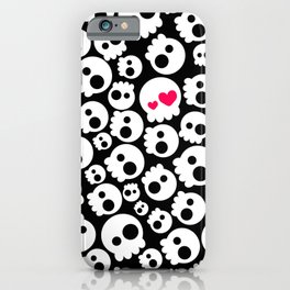 A skull in love iPhone Case