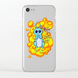 Evil Little Bunny Clear iPhone Case