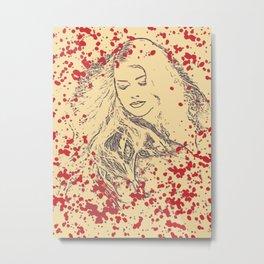Splatter Beauty Metal Print