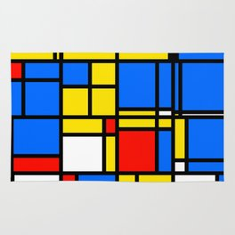 Mondrian Style Rug