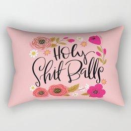 Pretty Swe*ry: Holy Shit Balls Rectangular Pillow