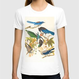 Vintage Birds Print T-shirt