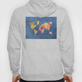 world map blue 2061 #map #worldmap Hoody
