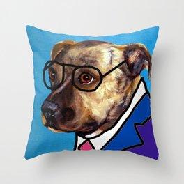 Dog School Throw Pillow