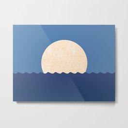 Moonrise Night Sky - Horizon Metal Print