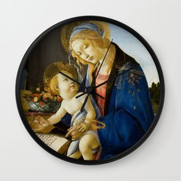 Sandro Botticelli - The Virgin and Child, 1480 Wall Clock