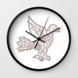 Dove Celtic Knotwork Wall Clock