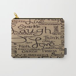 just WORDS Carry-All Pouch
