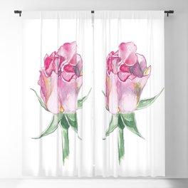 Pink rose Blackout Curtain