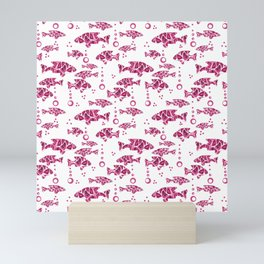 Raspberry pink fish. Mini Art Print