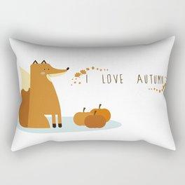 I love Autumm Rectangular Pillow