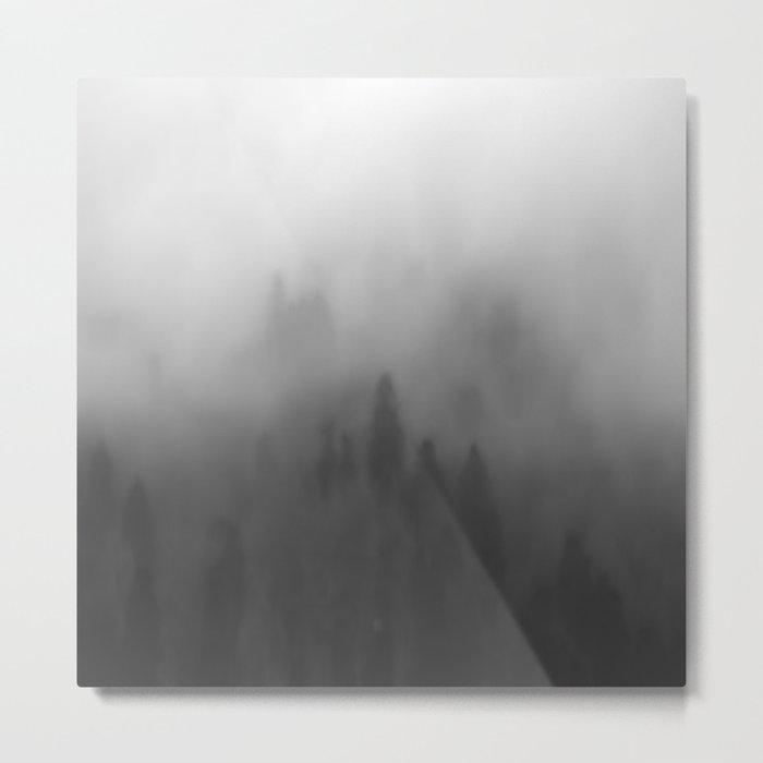 Foggy forrest Metal Print