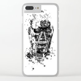 Terminator T-800 splatter painting Clear iPhone Case