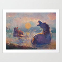 The man and the horse Art Print