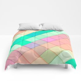 Simple Colorful Pastel Tiles Comforters