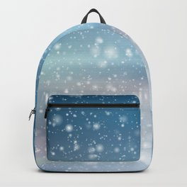 Snow Bokeh Blue Pattern Winter Snowing Abstract Backpack