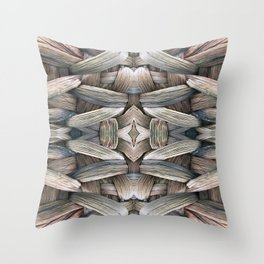 Tone Color Blends Throw Pillow