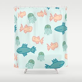 Free Fish Shower Curtain