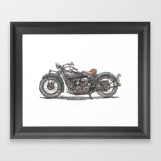 1929 Indian Motorcycle Framed Art Print