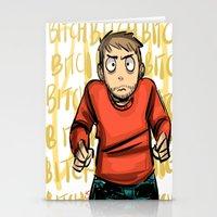 jesse pinkman Stationery Cards featuring Jesse Pinkman  by zacksellsstuff